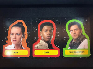 Full Set Of 19 Topps - Journey To The Rise Of Skywalker  Character Stickers