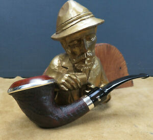 1 TOP STANWELL PIPE OF THE YEAR 1993 925 SILVER CALABASH RING GRAIN 9mm Fi