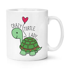 Crazy Tartaruga LADY 10oz TAZZA COPPA-Tartaruga Divertente Stupida animale