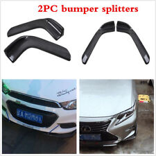 2X Carbon Fiber Style Winglet Type Car Front Bumper Lip Splitters Spoiler Wings