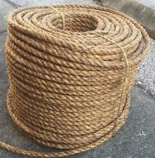 """1.5"""" Manila Rope Sold By The Foot $1.32/foot Nautical Landscape Fitness Dock"""