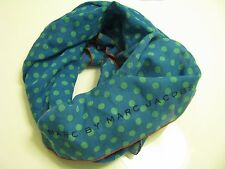 NWT AUTHENTIC Marc By Marc Jacobs Mini Dot Print Scarf in Blue $118