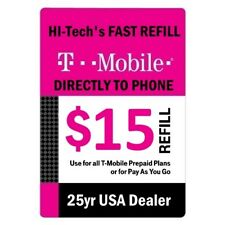 $15 T-MOBILE PREPAID FASTEST ONLINE REFILL 25yr USA TRUSTED DEALER
