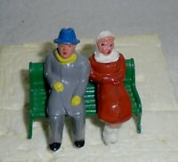 "Vintage Lead Barclay ""Man And Woman On Bench, Winter Coats"" B179 Near Mint F/S"