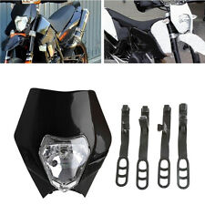Motorcycle Bike Motocross Universal Headlight BA20D Bulb For KTM SMR Headlamp
