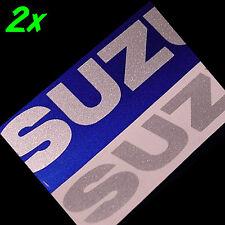 Suzuki SILVER METALLIC 13in 33cm decals stickers gsx s r 750 1000 600 gixxer 300