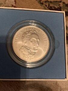 1973 20 Balboas Panama: Beautiful Huge Silver Coin