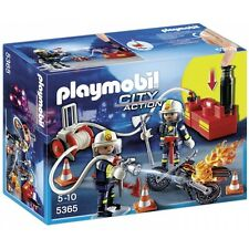 Playmobil City Action Fire Brigade Firefighters with Water Pump - Brand New!