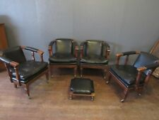 Vintage Chairs Stool North Hickory Office Study Library Law Office - Not Leather