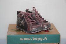 BOPY -  Zepop   - Chaussures bébé Fille -  Cuir rose -  T 19  neuf