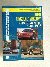 1988-1992 Ford F150 F250 F350 Bronco Van Repair Service Shop Manual 0801983193