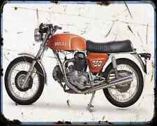 Ducati 750Gt 71 A4 métal signe Moto Vintage Aged