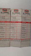 ORIGINAL TEXACO OIL CHANGE REMINDER CARDS  SET OF 3