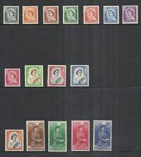 NEW ZEALAND SCOTT 288 - 301 MH SET - 1953/57 QUEEN ELIZABETH II ISSUE   CAT $116