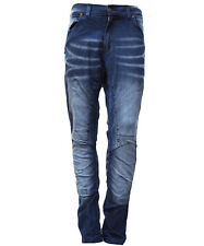 Mens Boy Motorbike Motorcycle Denim Jeans Slim Trouser Pants With Protectors 32 Inches 30 Inches Black