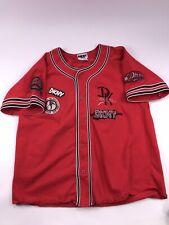 Vtg 90s Dkny Donna Karan Baseball Jersey Hip Hop Rap Red Vintage Retro Size M/L