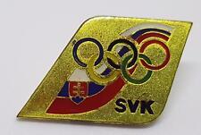 RARE SVK SLOVAKIA SYDNEY 2000 OLYMPIC TEAM PIN - DIAMOND SHAPED ENAMEL PIN