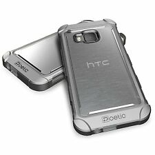 Case For HTC One M9 (2015) Poetic【Affinity】TPU Grip Bumper Protective Case Gray