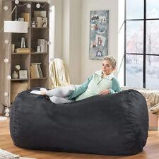 Large Bean Bag Chair Giant Adult Black Dorm Furniture XL 8ft Sofa Lounge College