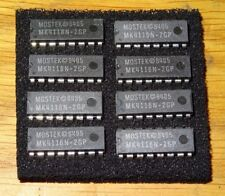 MEMORY CHIPS 4116 DRAM MK4116N-2GP FOR VARIOUS VINTAGE COMPUTERS - 8 PER LOT NOS