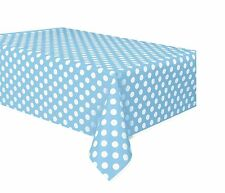 Powder Blue and White Polka Dot | Party Tablecover | Tablecloth 1-5pk