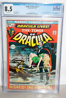TOMB OF DRACULA  #1 CGC 8.5( VF+)   1ST APP. OF DRACULA IN A MARVEL COMIC