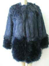 $229 WENDY WILLIAMS BLUE FAUX FUR LONG SLEEVE COAT SIZE XS - NWT