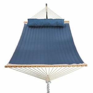 Patio Watcher 11 Feet Quilted Fabric Hammock with Pillow Double Hammock with ...