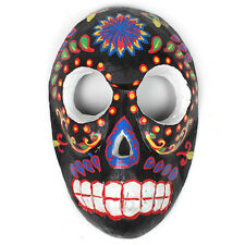 WALL MASK VOODOO SKULL DESIGN COLOURFUL / BLACK / WOOD