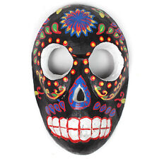 WALL MASK AFRICAN VOODOO SKULL DESIGN COLOURFUL / BLACK / WOOD