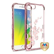 iPhone 6 5s 7 8 /Plus SE Clear Bling Hybrid Shock Rubber Silicone TPU Case Cover