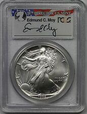 1992 American Silver Eagle $1 MS 69 PCGS Edmund C. Moy Signature