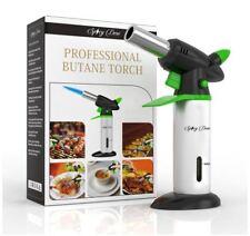 Best Portable Small Mini Culinary Kitchen Butane Blow Torch Lighters Set Kit New