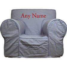 Insert For Pottery Barn Anywhere Chair + Lavender Check Cover Small Embroider Rd