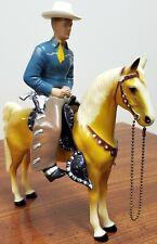 Vintage Hartland 1950's Blue Shirt ~ Champ Cowboy ~ w Palomino Horse Hat & Guns
