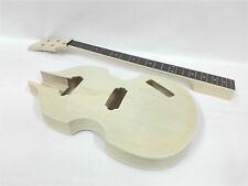 Complete No-Soldering Electric Bass Guitar DIY, HH Pickups,Viola shape HSVL 1910