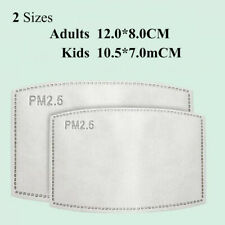 20pcs PM2.5 Carbon Activated Filter for Adult Child Face Mouth Cover Mask