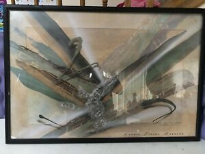 """Artwork Laurie Fields Barkado Framed and Signed 25"""" X 37"""" See Description"""