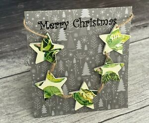 'Merry Christmas' Card & Mini Bunting Decoupaged in Emma Bridgewater's Sprouts