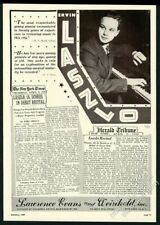 1949 Ervin Laszlo photo piano recital tour booking trade ad