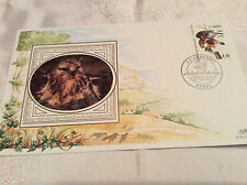 1995 Benham Silk Rough-legged Hawk French Stamp JJ Audubon