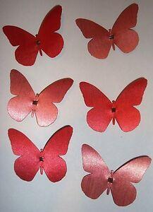 6 Schmetterlinge mit Clip - Deko - Ostern