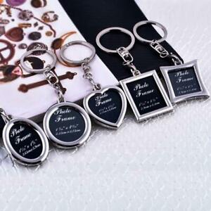 Photo frame keyring silver metal Photoframe keychain gift for him her mum dad UK
