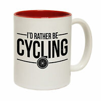 I'd Rather Be Cycling Tea Novelty Cyclist MUG cup birthday office funny gift