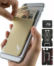 The Gecko Adhesive Card Wallet for Back of Cell Phone, Ultra Slim Pocket - BEIGE