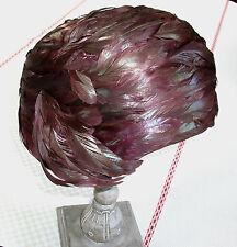 Exceptionnel chapeau art déco 1930 en plumes naturelles.