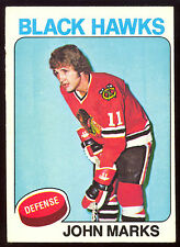 1975 76 OPC O PEE CHEE #121 JOHN MARKS EX-NM CHICAGO BLACK HAWKS HOCKEY CARD