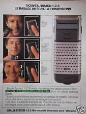 PUBLICITÉ 1985 RASOIR BRAUN LE RASAGE INTÉGRALE EN 3D - ADVERTISING