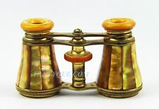 ANTIQUE FRENCH OPERA GLASSES GOLDEN RAINBOW MOTHER OF PEARL # 165 PARIS