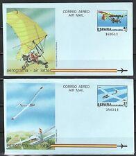 ESPAÑA AEROGRAMAS 1985 9/10 2v.